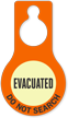 Evacuated Do Not Search Glow Hang Tag