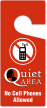 Quiet Area No Cellphones Allowed Door Hang Tag