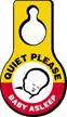Quiet Please Baby Asleep Door Hang Tag