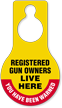 Registered Gun Owners Live Here Hang Tag