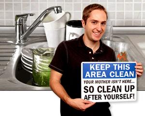 Keep Kitchen Clean Signs | Kitchen Courtesy Signs