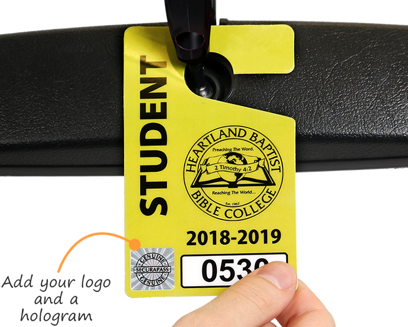 Customizable Student Parking Permits