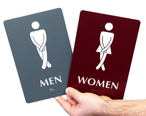 Bathroom Door Signs Vacant bathroom signs