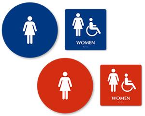 California Bathroom bathroom sign kit