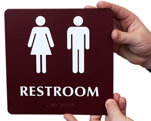 Unisex Bathroom Signs unisex bathrooms Unisex Restroom Signs