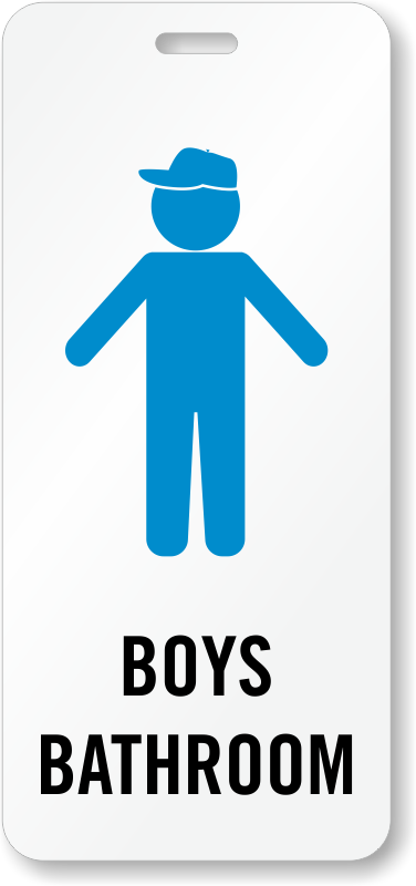 Boys Bathroom Hall Pass ID, SKU - BD-0683