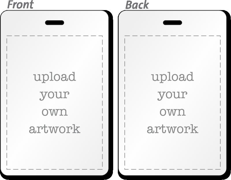 Custom bi fold badges add text logo artwork info for Badge buddy template