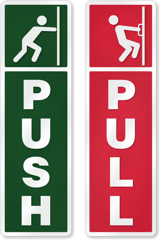 push pull signs push pull door signs and labels
