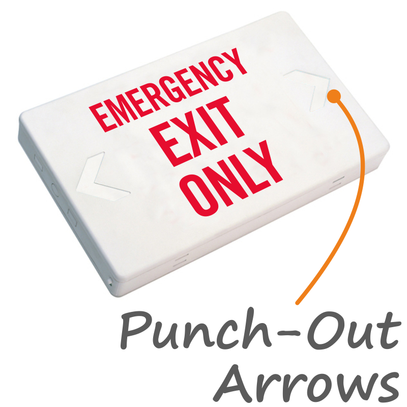Emergency Exit Only Led Exit Sign With Battery Backup Sku