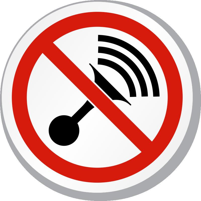 No Horn Symbol Iso Prohibition Circular Sign Sku Is