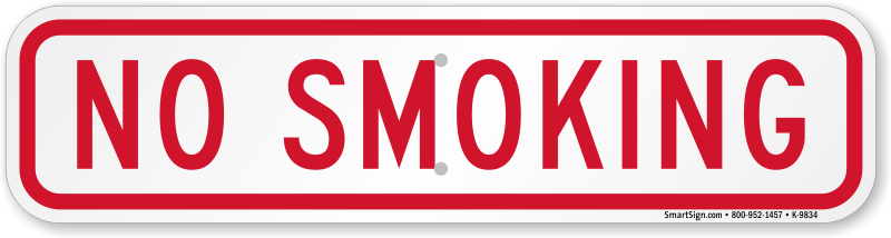 No Smoking Stickers | No Smoking Labels