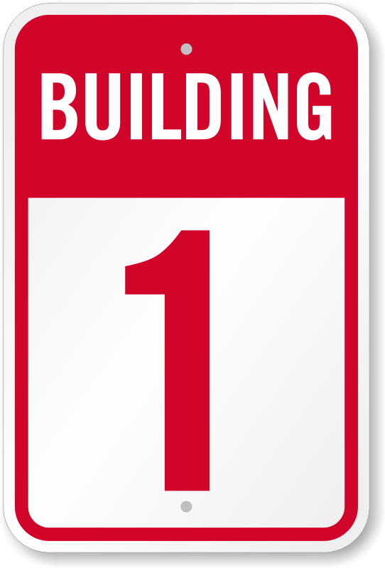 Building Number 1 Sign Ships Fast And Hassle Free Sku