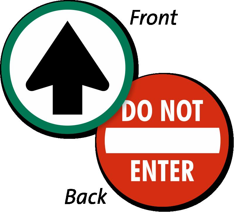 Do Not Enter Window Decals & Door Stickers