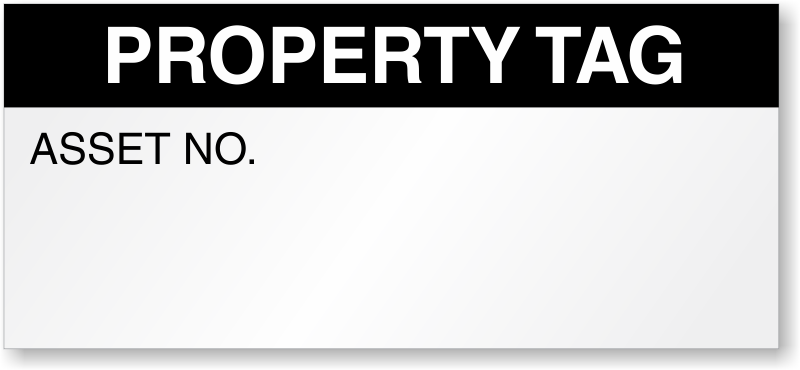 property tag calibration asset no labels high quality sku qc 0048. Black Bedroom Furniture Sets. Home Design Ideas
