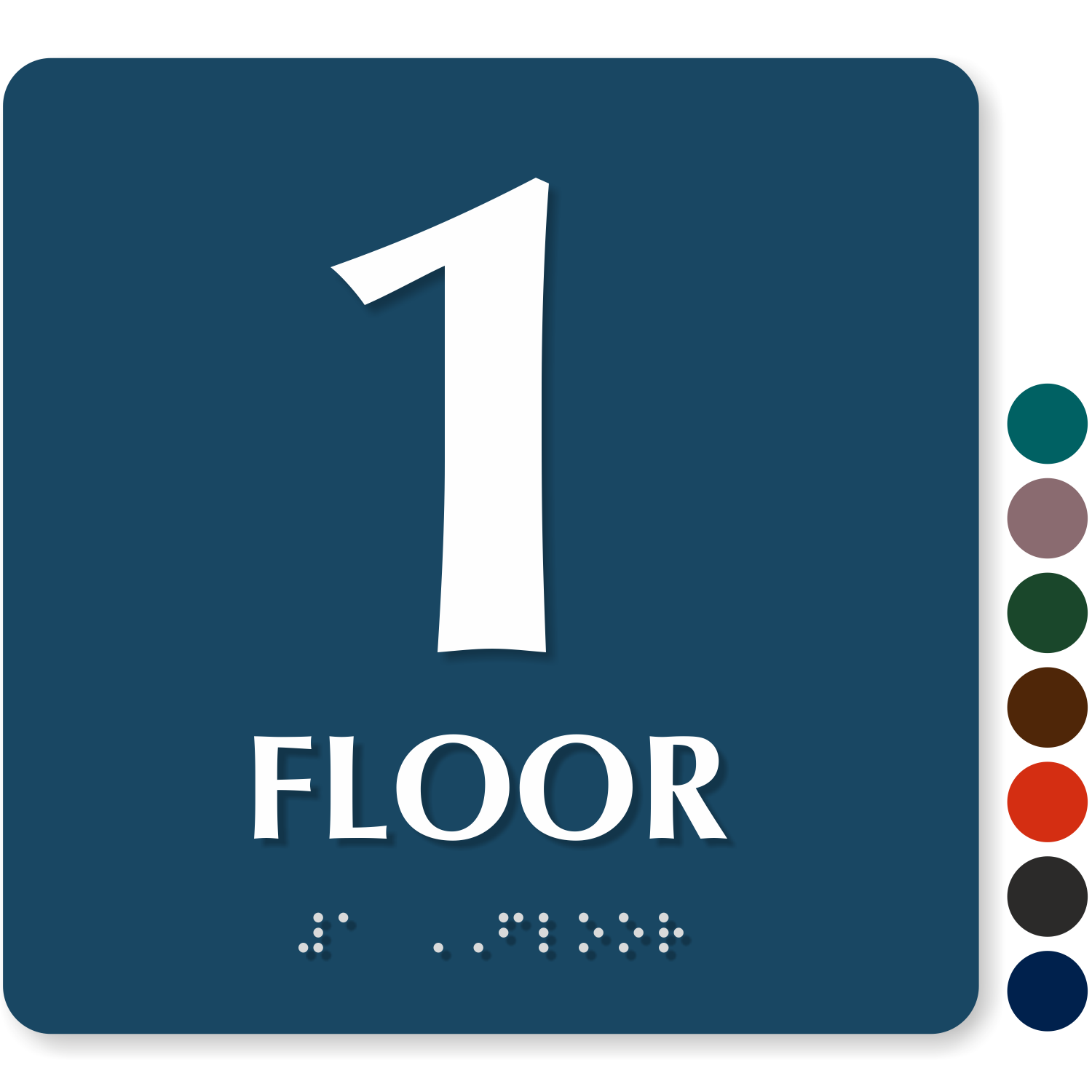Number 1 Sign Floor number signs - roof access, re-entry & floor ...