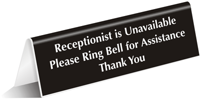 Please Ring Bell For Service Signs