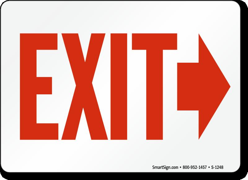 Exit Right Arrow Signs Exit Entrance Signs Sku S 1248