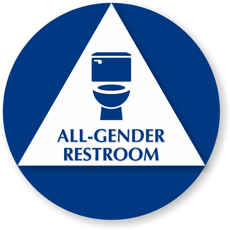 All Gender Bathroom Sign My Web Value