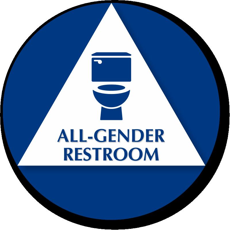 Bathroom Signs California california all-gender sintra restroom sign with toilet symbol, sku