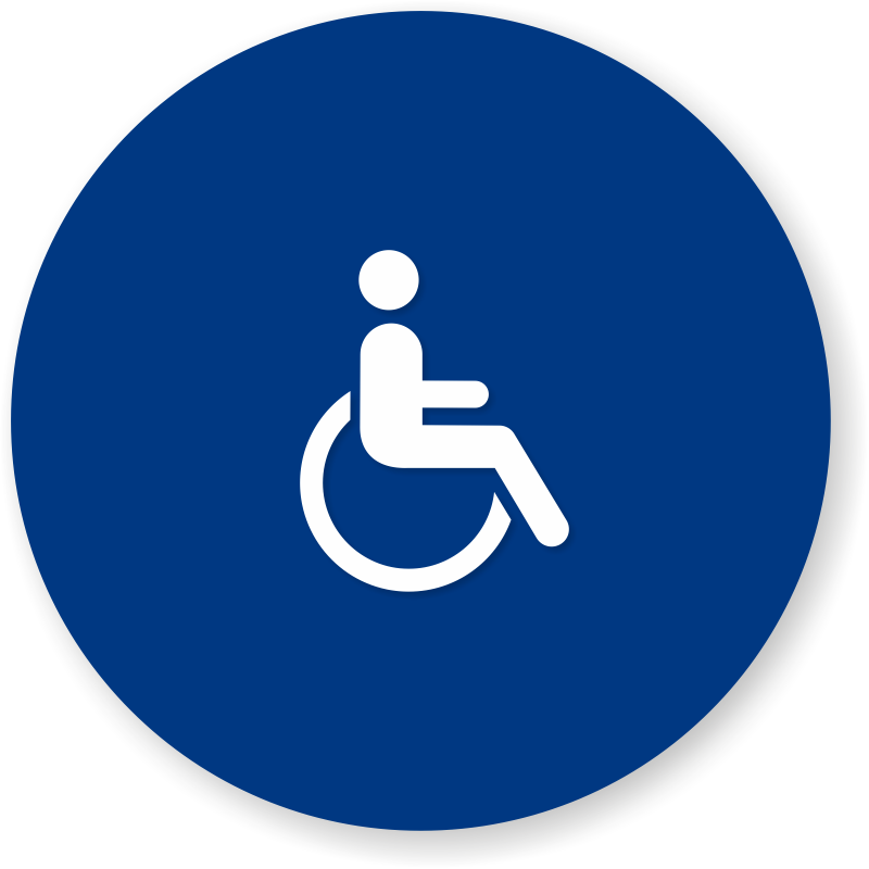 Bathroom Signs California california women's bathroom sign in blue with pictogram, sku - se-1765
