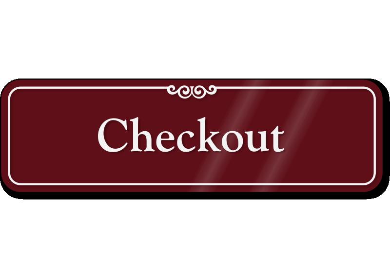 Checkout ShowCase™ Wall Sign | MyDoorSign.com, SKU - SE-2439