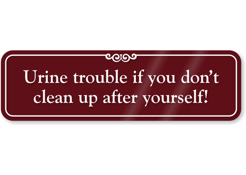Bathroom Signs To Clean Up After Yourself clean-up after yourself humorous bathroom wall sign, sku - se-6880