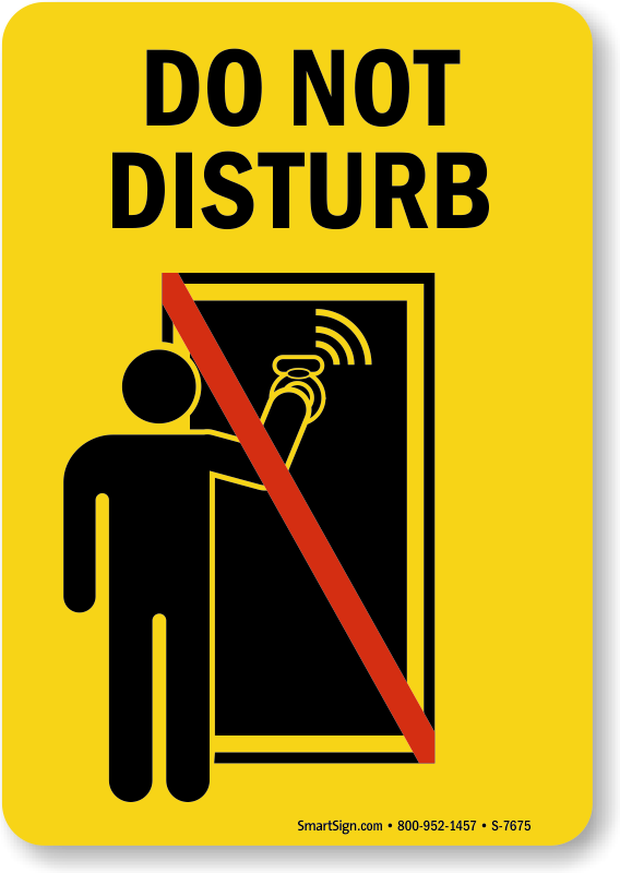 office do not disturb signs