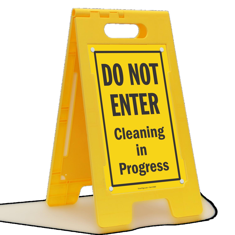 Do Not Enter Cleaning In Progress Floor Standing Sign Sku