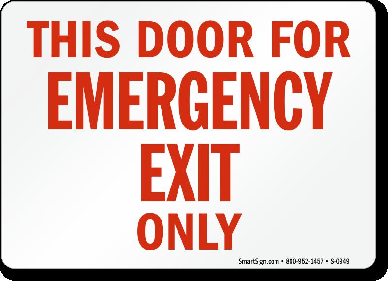 Printable Pictures Of An Emergency Room Door