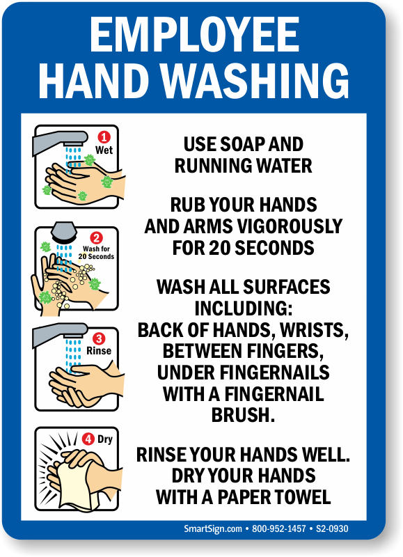 Crush image in printable hand washing signs for employees