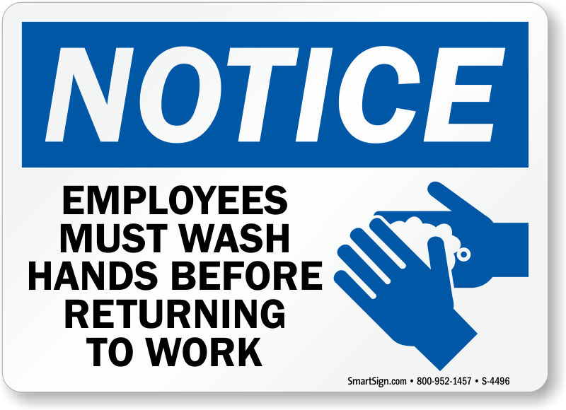 Enterprising image with regard to employees must wash hands sign free printable