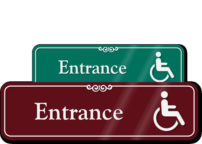 Handicap Entrance Sign Wheelchair Accessible Sign Sku