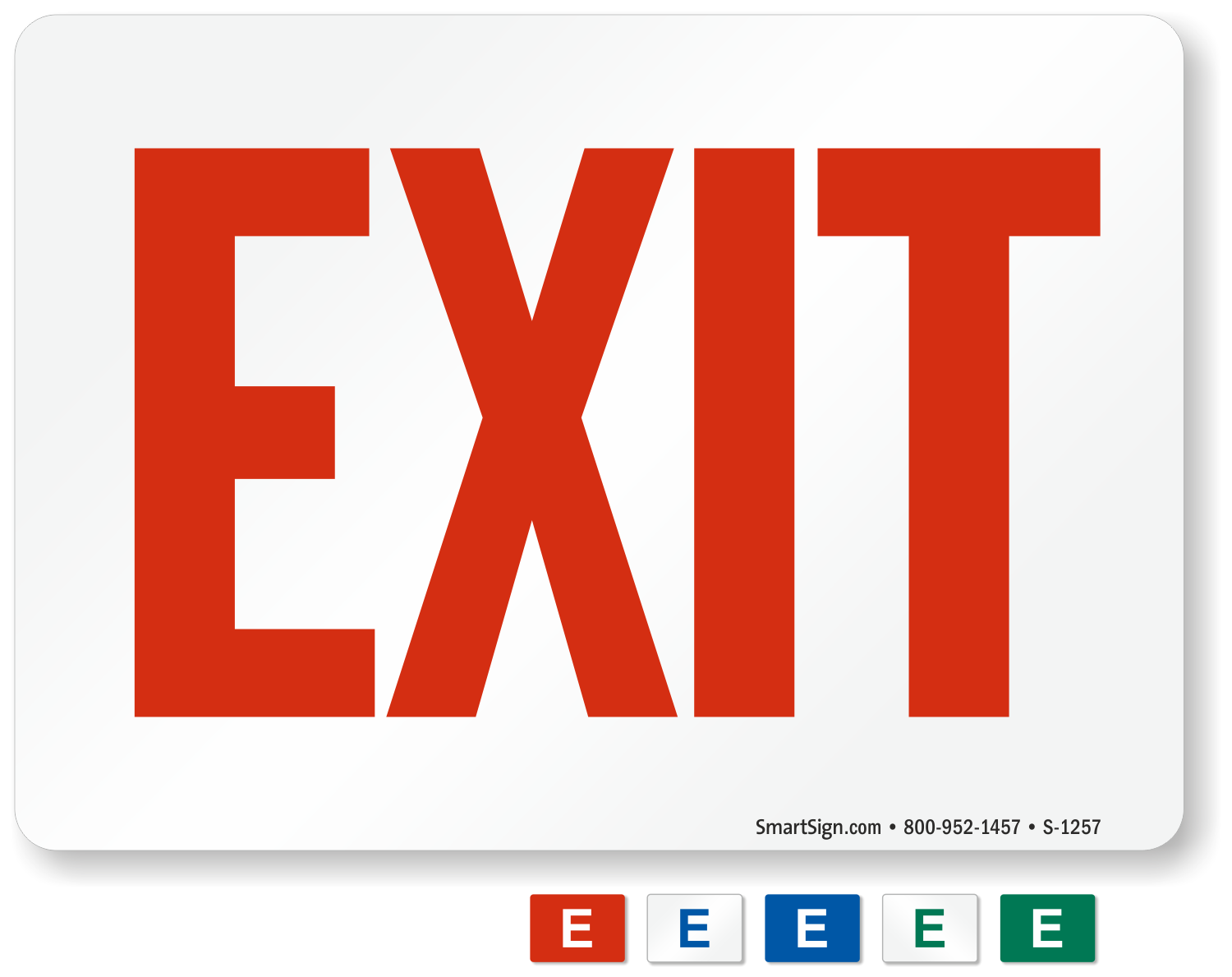 Gorgeous image inside printable exit sign