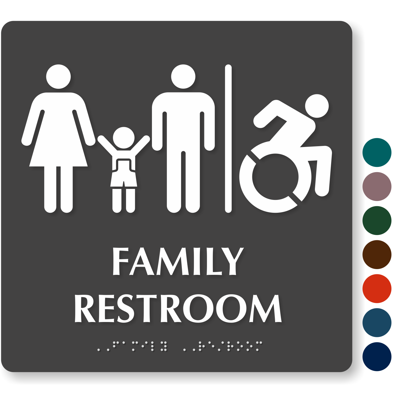 Bathroom Signs Walmart family restroom signs