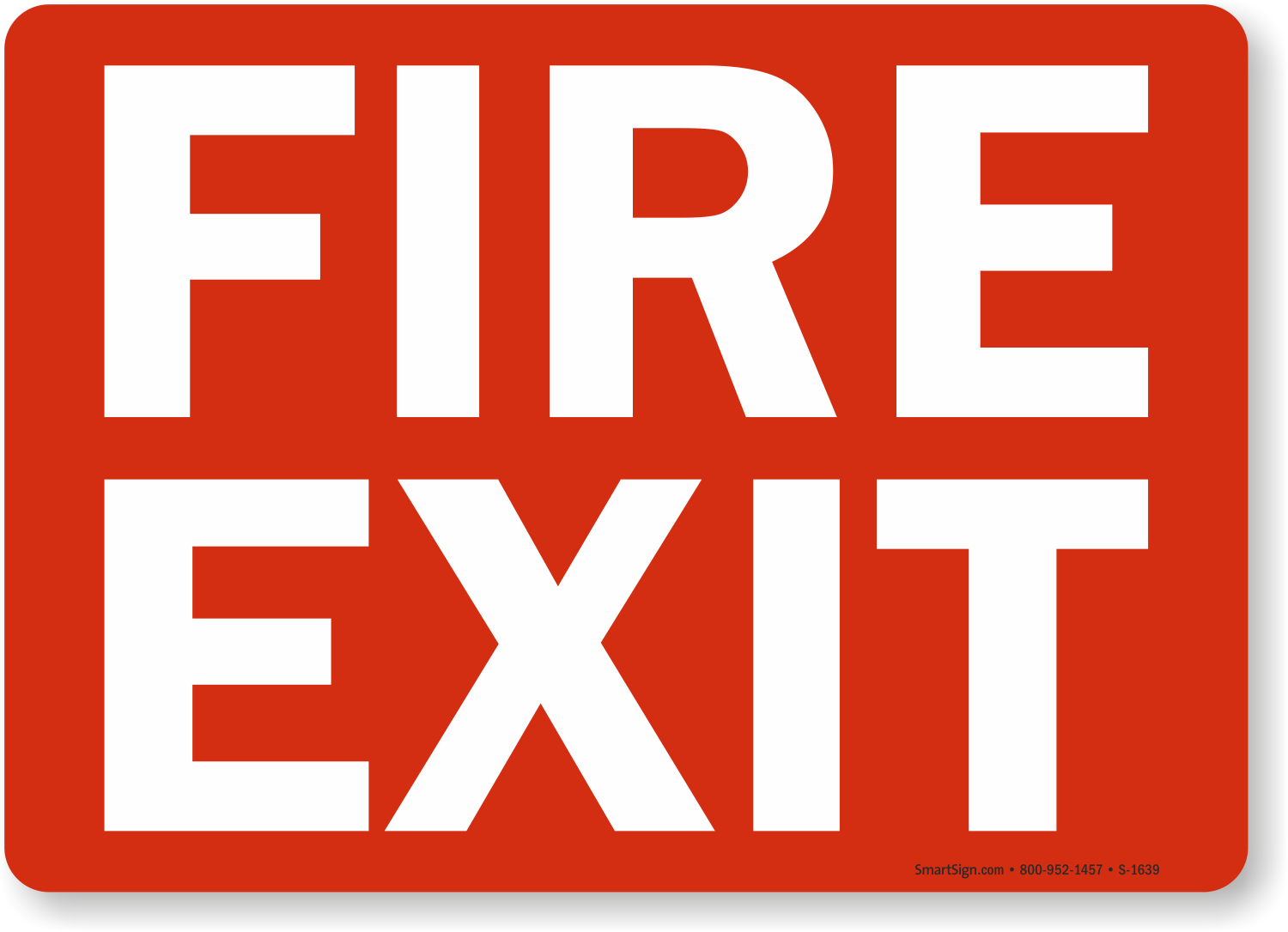 Fire Exit Sign : Fire exit signs and emergency sku s
