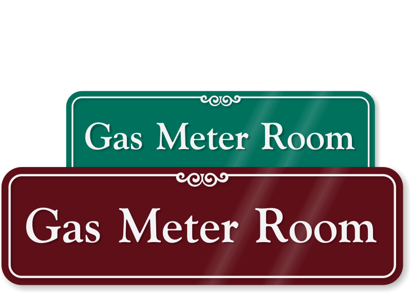 Electric Meter Cans Sign : Meter room signs electric