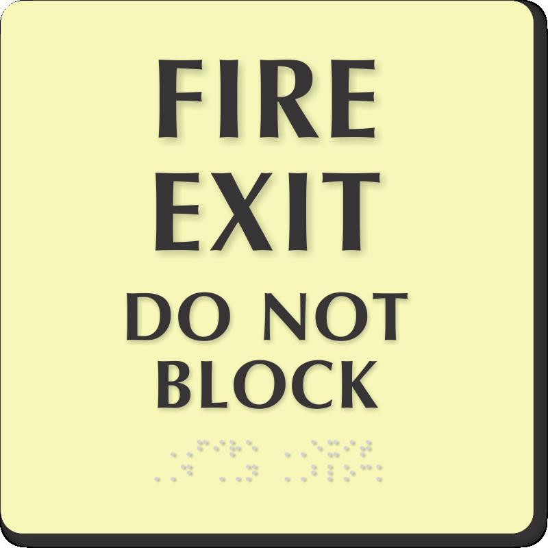 Fire Door Signs Fire Door Do Not Block Signs