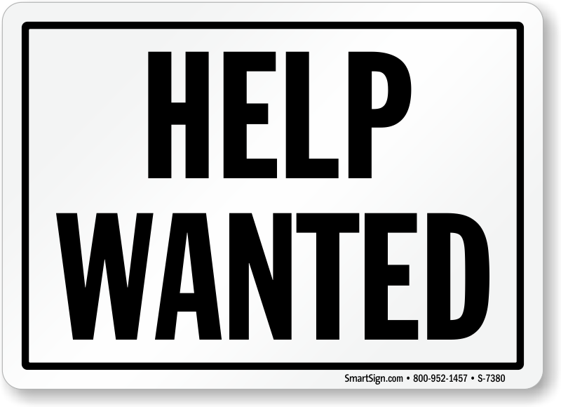 Help Wanted Sign Customer Sign Online Sku S 7380