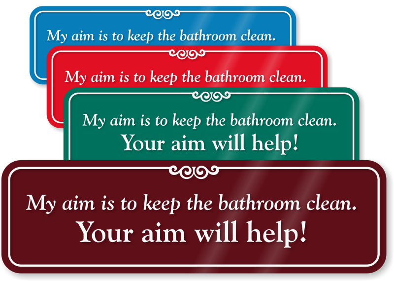 Funny bathroom signs for Keep bathroom clean