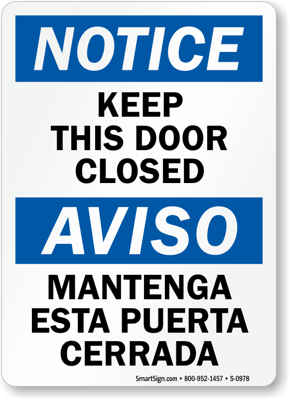 pics for gt please close the door sign printable