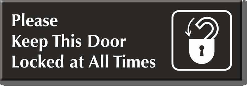 Lock Doors Signs