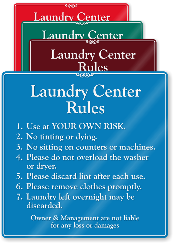 Laundry Room Rules The Pun Intended By Shaycam