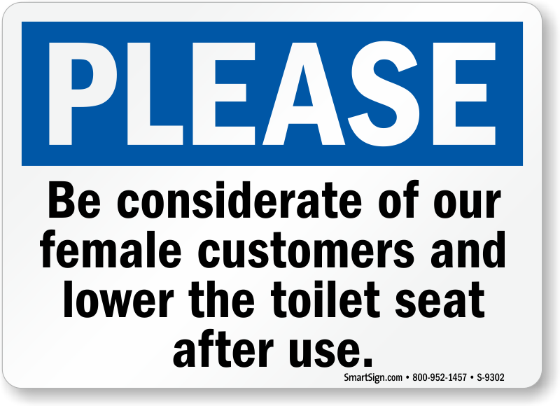 Toilet Seat Signs