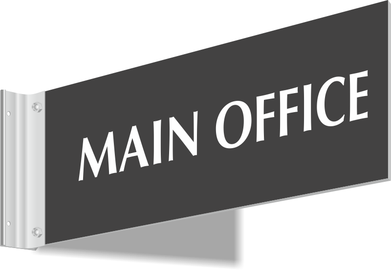 Main Office Signs