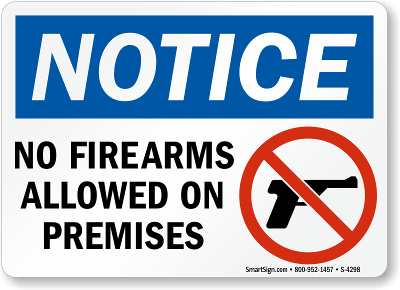 Image result for official no guns allowed