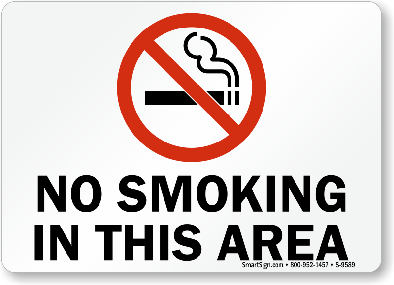 Image Gallery no smoking zone sign