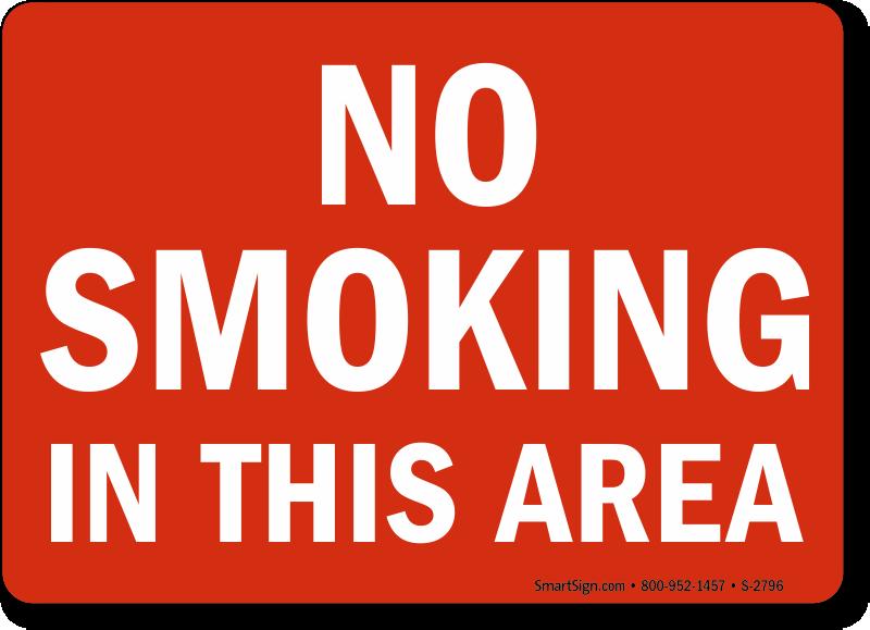 No Smoking in Bathroom Signs | Custom No Smoking Labels