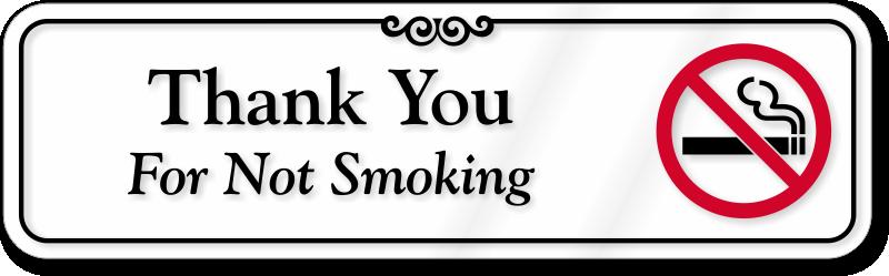 ShowCase No Smoking Signs | Deluxe No Smoking Signs