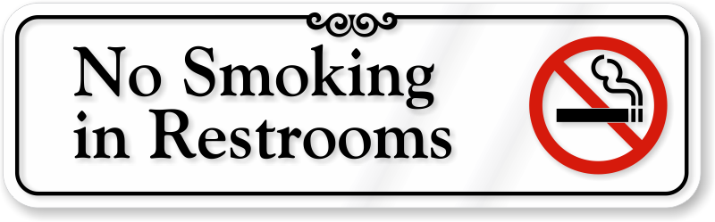 No Smoking In Bathroom Signs Custom No Smoking Labels