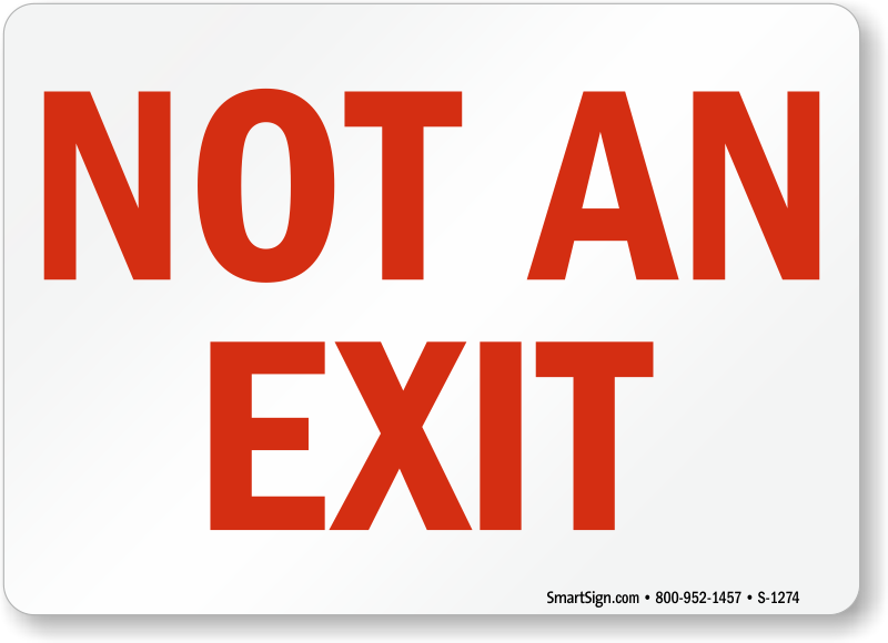Free Exit Signs | Download PDF
